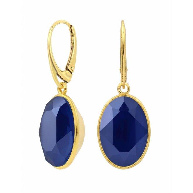 Ohrringe Swarovski Kristall Anhänger - Sterling Silber vergoldet - ARLIZI 1668 - Claudia