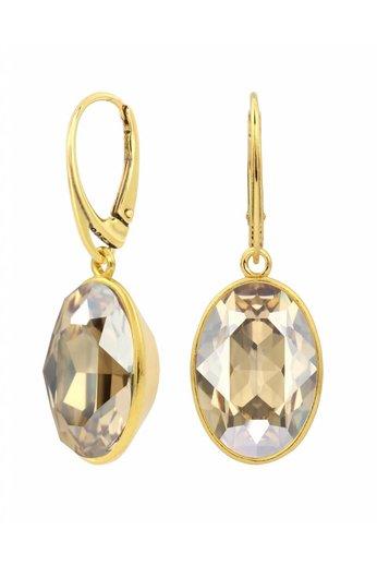 Ohrringe Swarovski Kristall Anhänger - Sterling Silber vergoldet - ARLIZI 1664 - Claudia