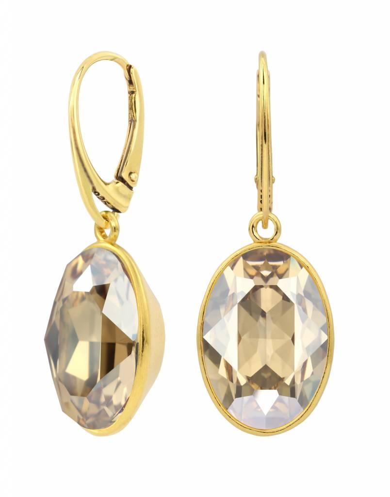 c38099414185c Earrings 925 silver gold plated Swarovski crystal - ARLIZI 1664