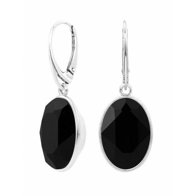 Earrings Swarovski crystal pendant - sterling silver - ARLIZI 1659 - Claudia