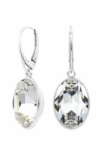 Earrings Swarovski crystal pendant - sterling silver - ARLIZI 1656 - Claudia