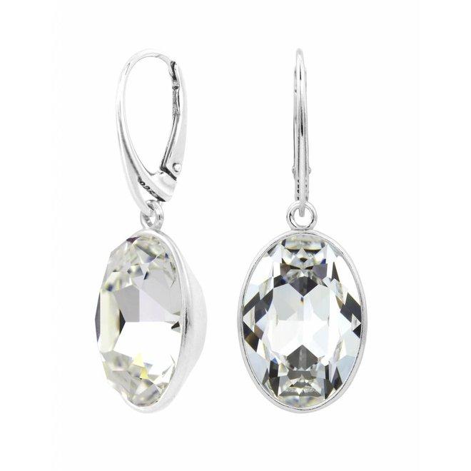 Earrings Swarovski crystal sterling silver - 1656
