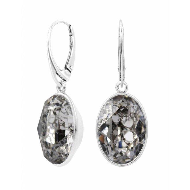 Oorbellen Swarovski kristal sterling zilver - 1657
