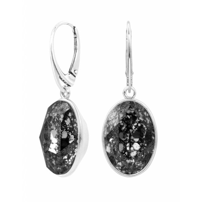 Earrings Swarovski crystal pendant - sterling silver - ARLIZI 1658 - Claudia