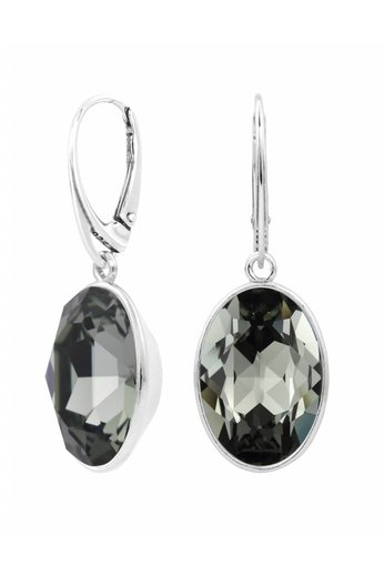 Earrings Swarovski crystal pendant - sterling silver - ARLIZI 1660 - Claudia