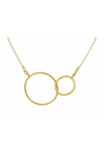 Necklace infinity pendant - sterling silver gold plated - ARLIZI 1675 - Kendal