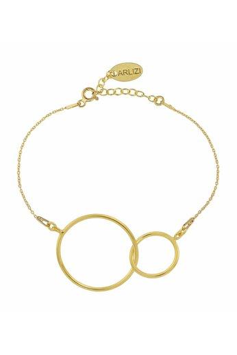 Bracelet infinity pendant - sterling silver gold plated - ARLIZI 1677 - Kendal