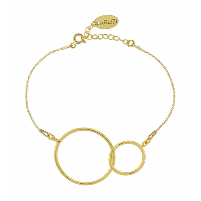 Bracelet infinity pendant sterling silver gold plated - 1677