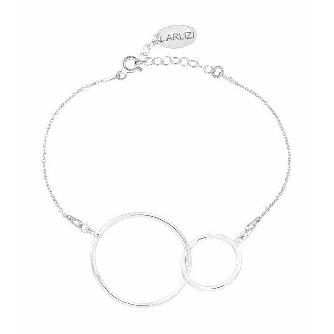 Bracelet infinity pendant sterling silver - 1676
