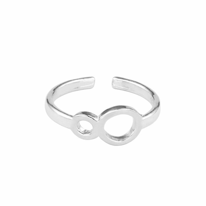 Ring infinity symbol sterling silver - 1678