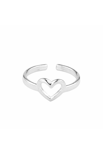 Ring heart sterling silver - ARLIZI 1682 - Kendal