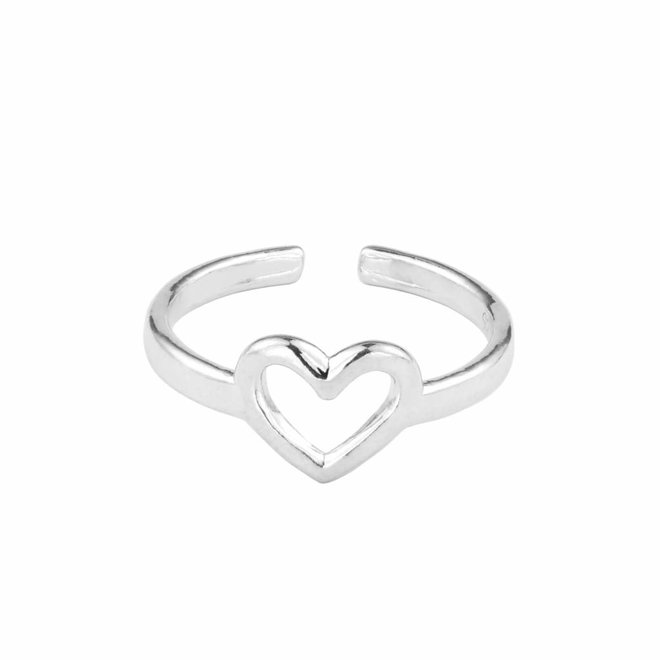 Ring heart sterling silver - 1682