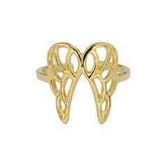 Ring wing sterling silver gold plated - 1681