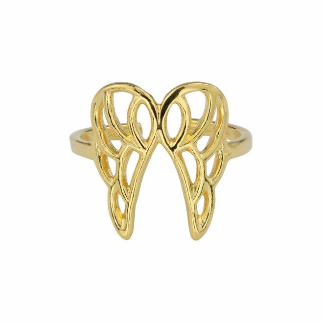 Ring Flügel Sterling Silber vergoldet - 1681