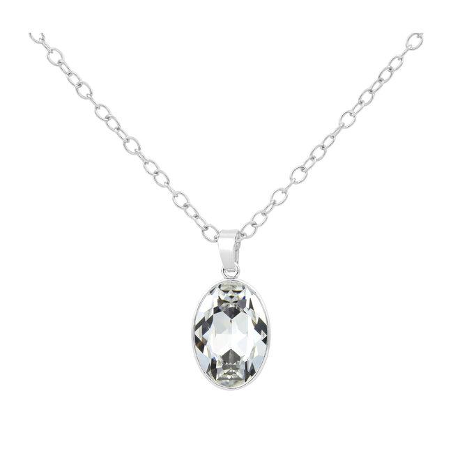 Ketting Swarovski kristal hanger - sterling zilver - 1688