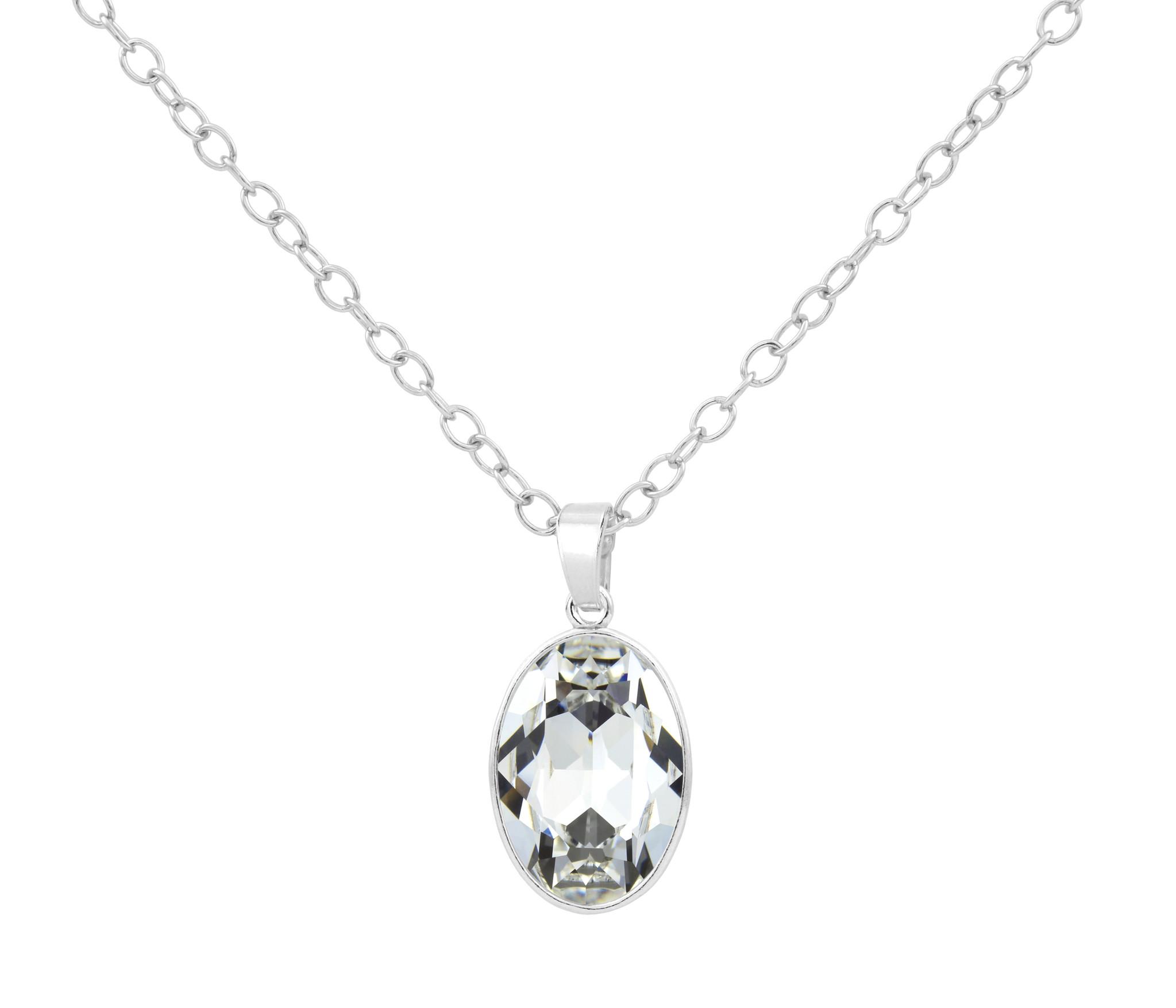 Necklace Swarovski crystal pendant sterling silver - ARLIZI 1688