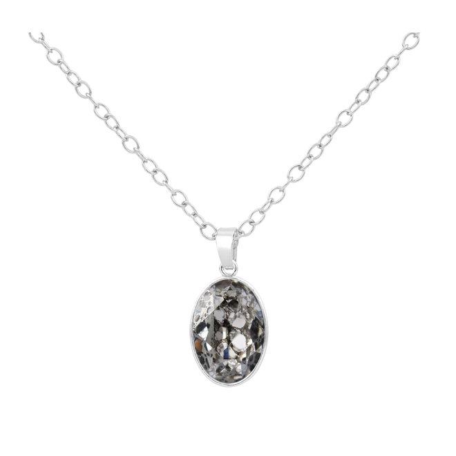 Ketting Swarovski kristal hanger - sterling zilver - 1689