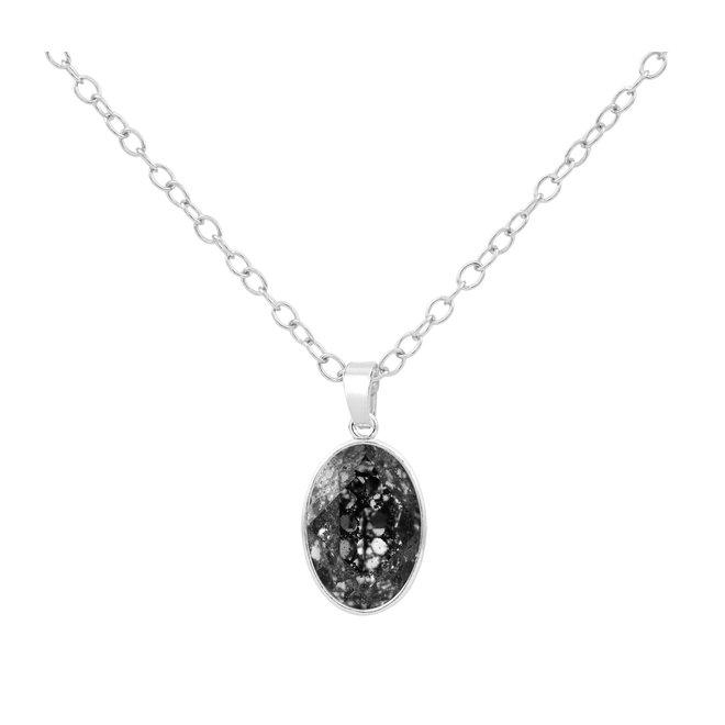 Ketting Swarovski kristal hanger - sterling zilver - 1690