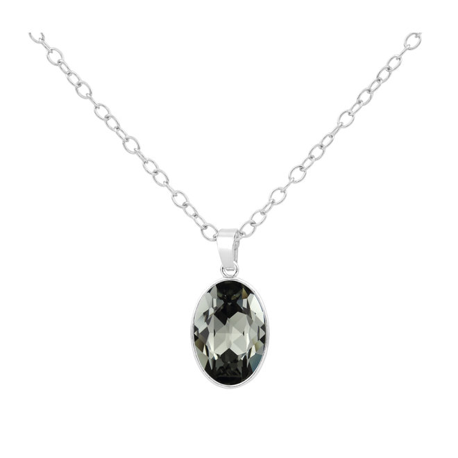 Ketting Swarovski kristal hanger - 925 sterling zilver - ARLIZI 1692 - Claudia