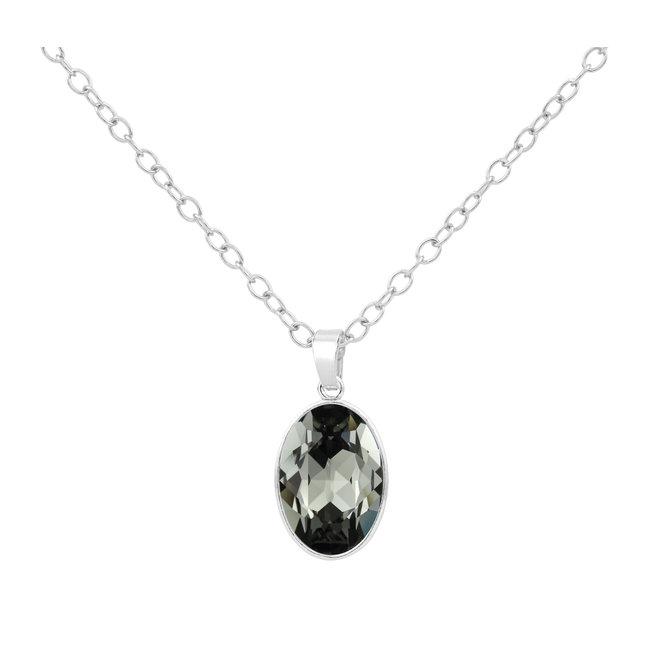 Ketting Swarovski kristal hanger - sterling zilver - 1692