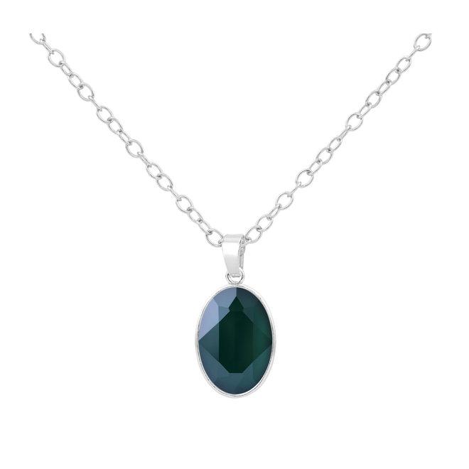 Halskette Swarovski Kristall Anhänger - Sterling Silber - 1693