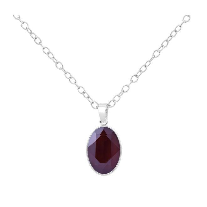 Halskette Swarovski Kristall Anhänger - 925 Sterling Silber - ARLIZI 1695 - Claudia