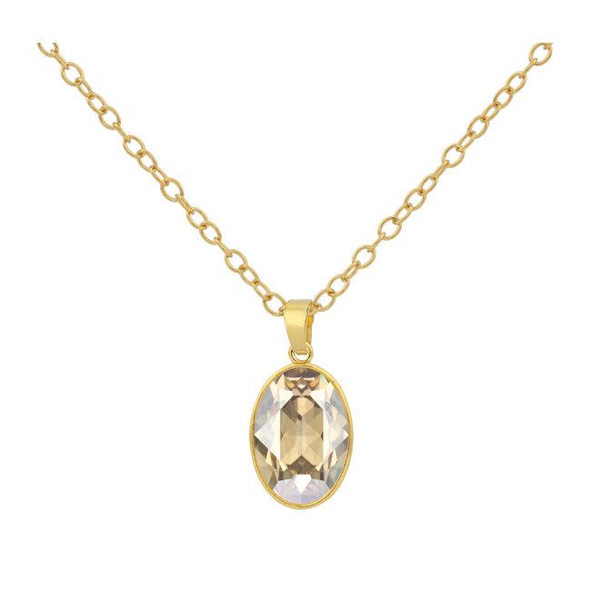 Halskette Swarovski Kristall Anhänger - 925 Sterling Silber vergoldet - ARLIZI 1696 - Claudia