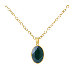 Necklace Swarovski crystal - sterling silver gold plated - 1699