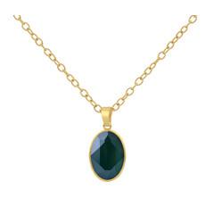 Necklace Swarovski crystal - sterling silver gold plated - 1699