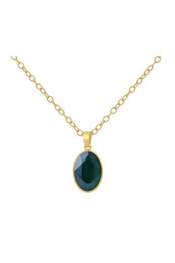 Necklace Swarovski crystal pendant - 925 sterling silver gold plated - ARLIZI 1699 - Claudia