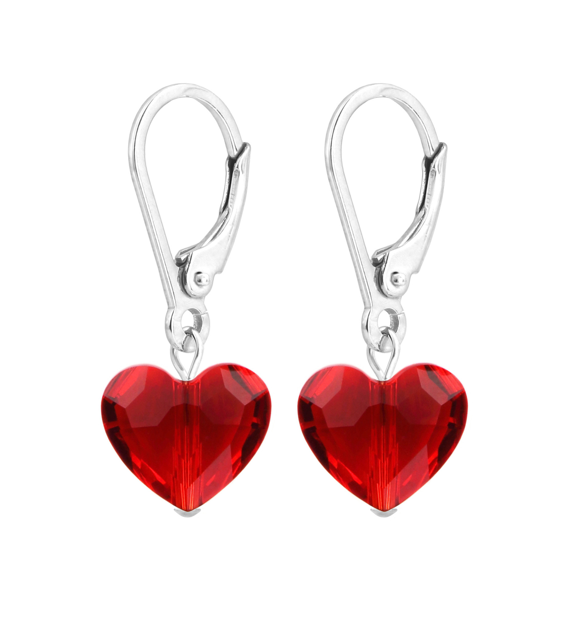 Crystal Heart Sterling Silver