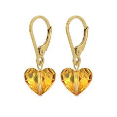 Ohrringe Swarovski Kristall Herz - Sterling Silber vergoldet - 1710