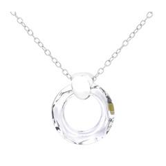 Necklace Swarovski crystal ring - sterling silver - 1713