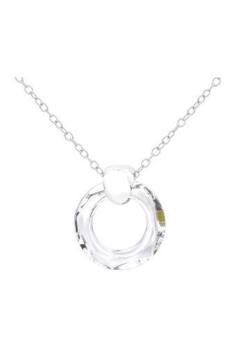 Necklace Swarovski crystal ring pendant - 925 sterling silver - ARLIZI 1713 - Iris