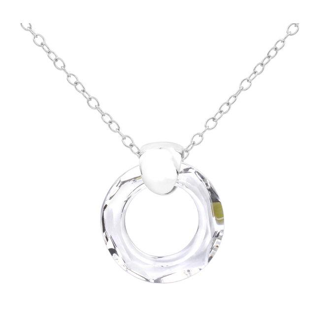 Ketting Swarovski kristal ring hanger - 925 sterling zilver - ARLIZI 1713 - Iris