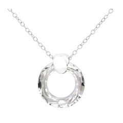 Halskette Swarovski Kristall Ring - Sterling Silber - 1714