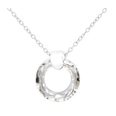 Necklace Swarovski crystal ring - sterling silver - 1714