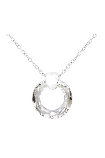 Halskette Swarovski Kristall Ring Anhänger - 925 Sterling Silber - ARLIZI 1714 - Iris