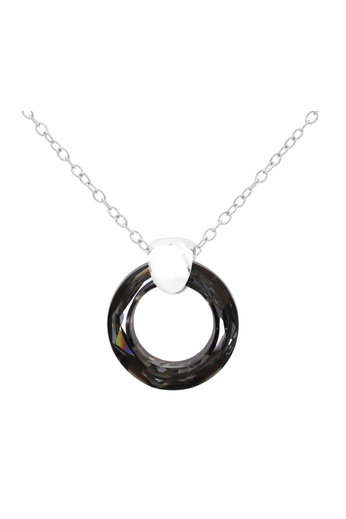 Necklace Swarovski crystal ring pendant - 925 sterling silver - ARLIZI 1715 - Iris