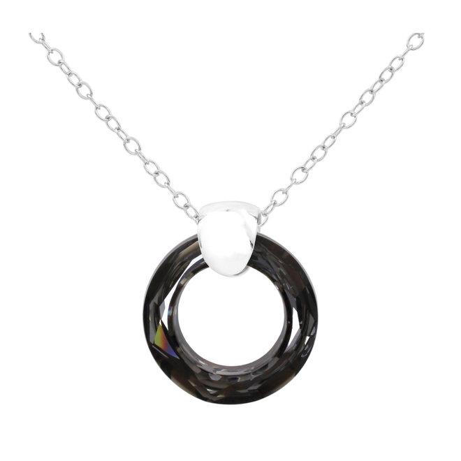 Necklace Swarovski crystal ring - sterling silver - 1715