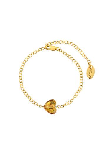 Bracelet heart Swarovski crystal - sterling silver gold plated - ARLIZI 1720 - Lara
