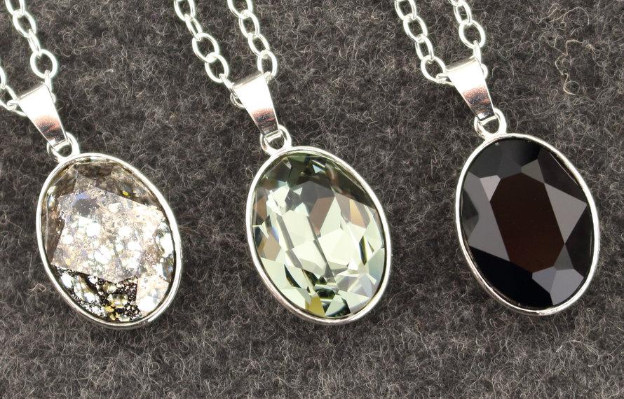 Dark crystal - sieraden met zwart kristal