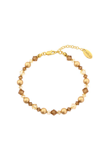 Armband parels Swarovski kristal goudkleurig - verguld sterling zilver - ARLIZI 1730 - Grace
