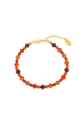 Bracelet Swarovski crystal orange purple - gold plated sterling silver - ARLIZI 1734 - Grace