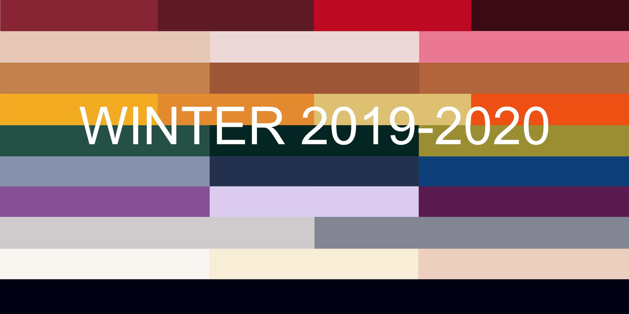 Top 10 modekleuren winter 2019-2020