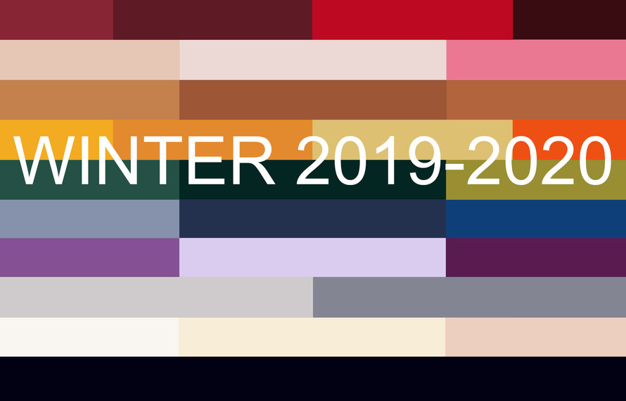 Top 10 fashion colours winter 2019-2020