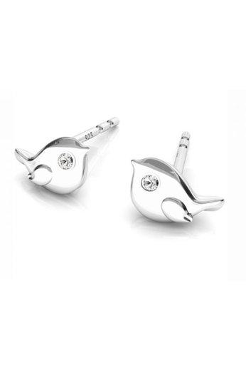 Earrings bird ear studs - sterling silver - ARLIZI 1750 - Zoe