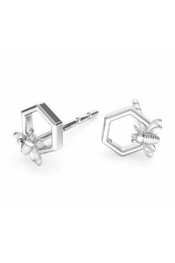 Earrings bee ear studs - sterling silver - ARLIZI 1752 - Zoe