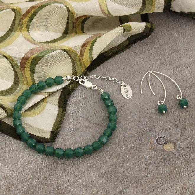 Bracelet green Swarovski crystal - sterling silver - ARLIZI 1755 - Coco