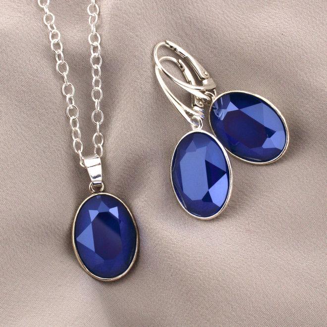 Halskette Swarovski Kristall Anhänger - 925 Sterling Silber - ARLIZI 1694 - Claudia